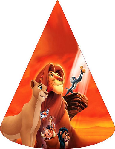 Lion King Party Hats - 6pcs