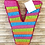 Thumbnail: ANY LETTER Colorful Rainbow Birthday Party Pull Strings Pinata - 40 cm