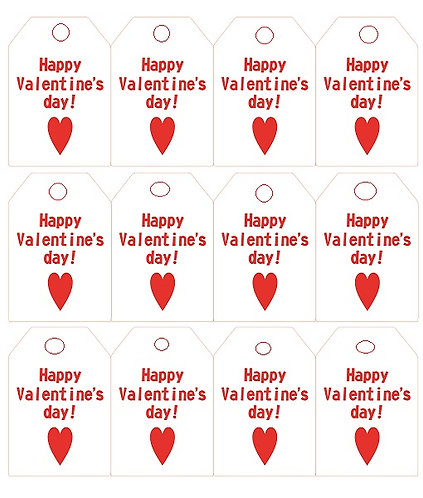HAPPY VALENTINES Gifts Tags - 12 pcs set