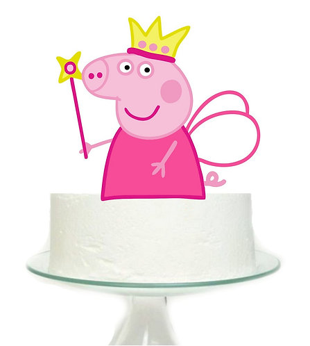 Princess Peppa Pig Big Topper for Cake - 1 pcs set