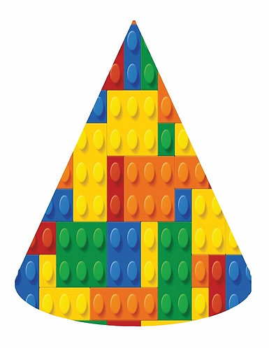 Lego Blocks Party Hats - 6pcs
