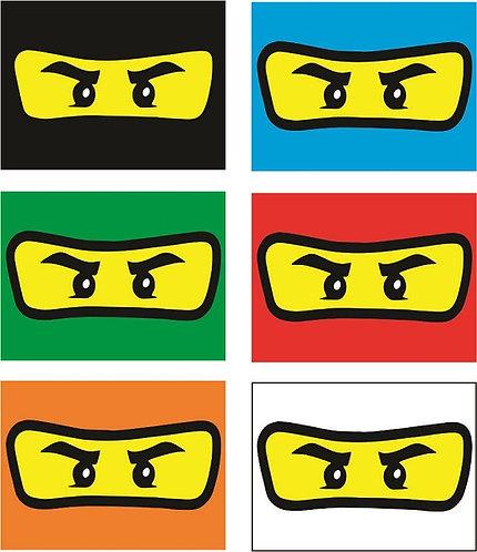 Ninjago Lego Invitations - 6pcs party invites