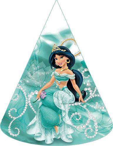 Princess Jasmine Aladdin Party Hats - 12 pcs