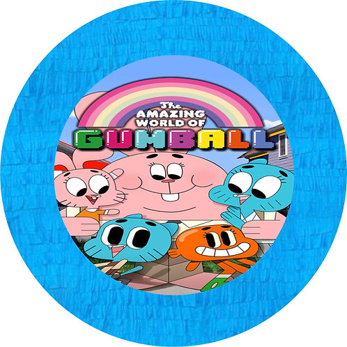 Gumball Party Pull Strings Pinata - 35 cm