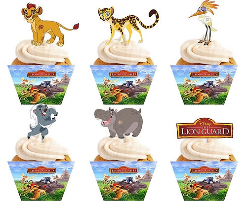 Lion king Lion Guard Cupcakes Toppers or Wrappers -12 or 24pcs