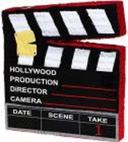Hollywood Camera Cut Movie Birthday Party Pull Strings Pinata - 40 cm