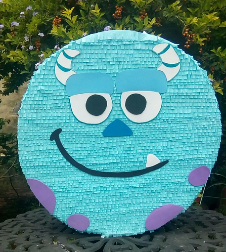 Monsters Inc Blue Head Party Pull Strings Pinata - 40cm