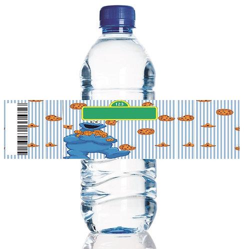 Sesame Street Cookie Monster Water Bottles Stickers - 6 pcs set