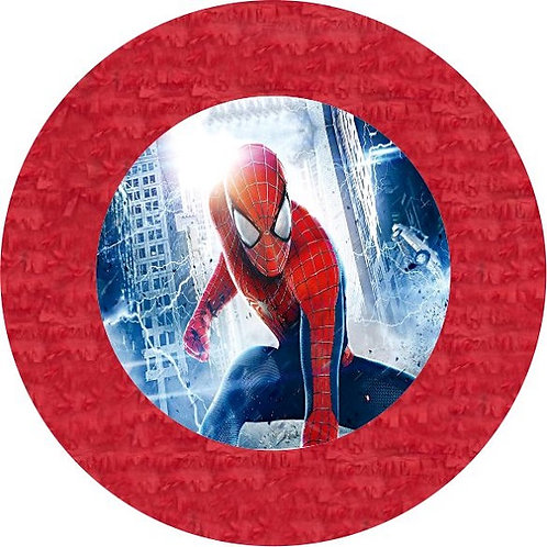 Spiderman Birthday Party Pull Strings Pinata Round - 35 cm