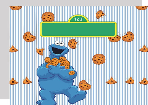 Sesame Street Cookie Monster Invitations - 6pcs party invites