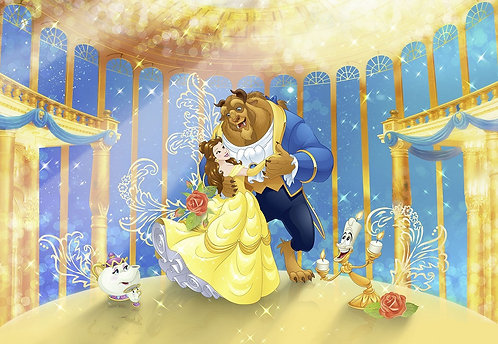 Princess Belle Beauty and the Beast Invitations - 6pcs party invites