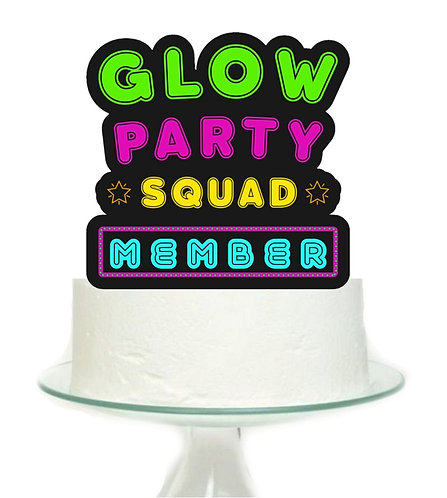 Glow Party Big Topper for Cake - 1pcs set