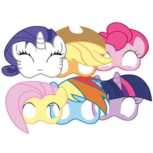 My Little Pony Party Masks - 6 pcs or 12 pcs