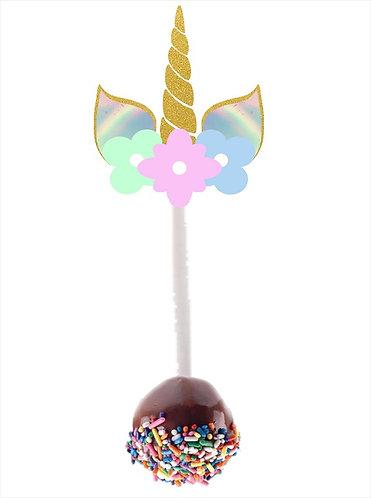 Unicorn Cakepops Toppers - 12 pcs set