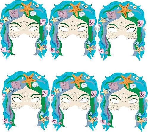 Mermaid Party Masks - 6 pcs or 12 pcs