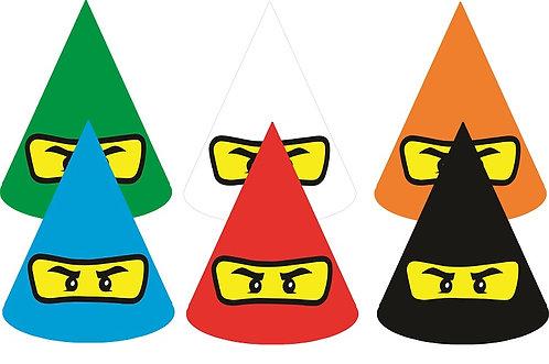 Ninjago Lego Party Hats - 6pcs