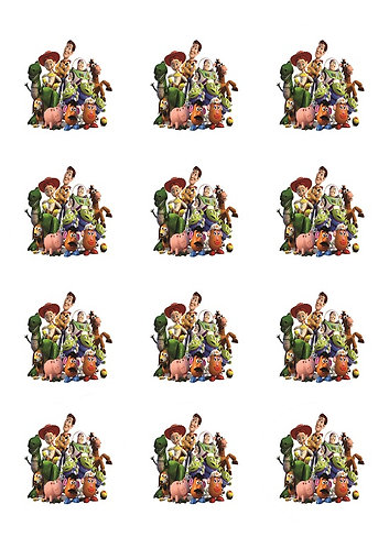 Toy Story All Round Glossy Stickers - 12 pcs set
