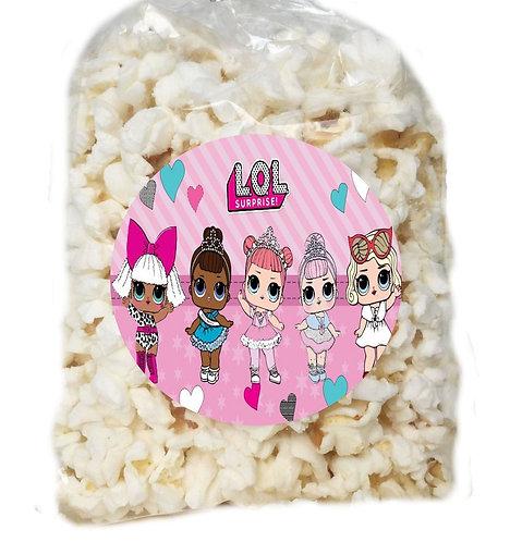 LOL Surprise Dolls Giveaways Clear Bags for Popcorn or Candies - 12 pcs set