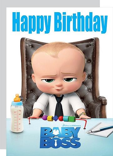 Boss Baby HAPPY BIRTHDAY Congratulation Card