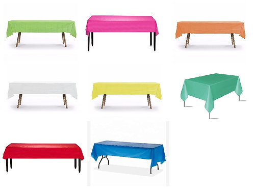 ANY COLOR Plastic Table Cover - 140 cm x 275