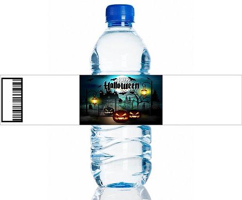 Halloween Castle Water Bottles Stickers - 6 pcs set