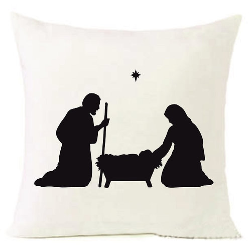 Christmas Nativity Mary Jesus Cushion Decorative Pillow COTTON OR LINEN -40cm