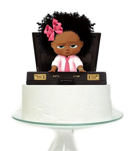 Boss Baby Girl Big Topper for Cake - 1 pcs set