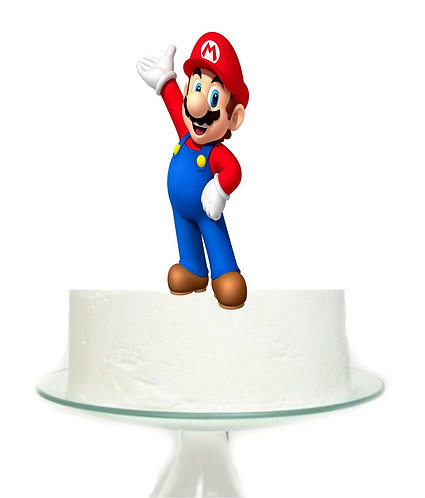 Mario Game Big Topper for Cake - 1 pcs set
