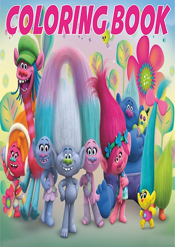 Trolls Small Coloring Book