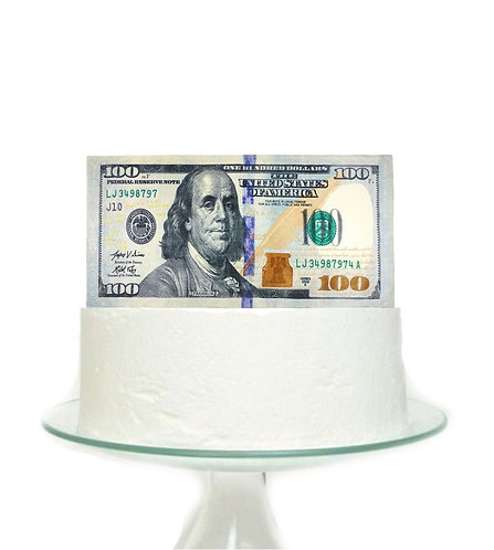 Money 100 Dollar Big Topper for Cake - 1 pcs set