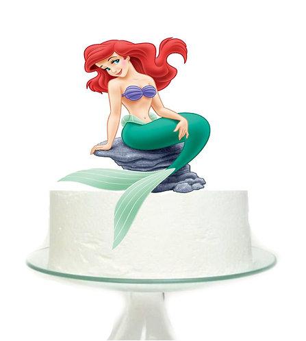 Princess Ariel Little Mermaid Rock Big Topper for Cake - 1 pcs set