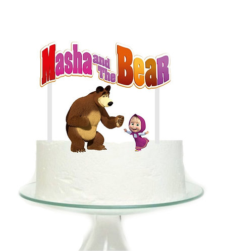 Masha and the Bear Big Topper for Cake - 3pcs set