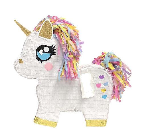 Cute Unicorn Birthday Party Pull Strings Pinata - 40cm