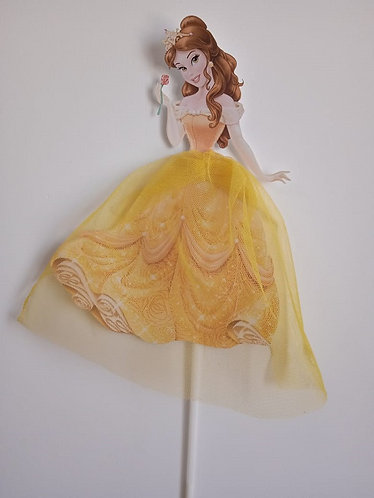 Princess Belle Beauty and the Beast Big Topper for Cake - 1 pcs set
