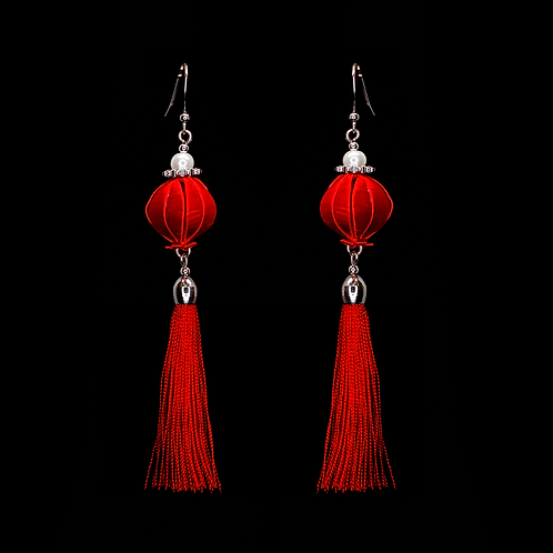 Fuchsia Earrings - Red