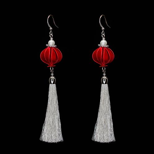 Fuchsia Earrings - Red-sliver
