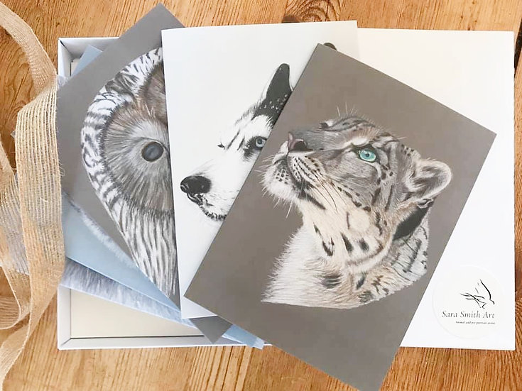 Greetings cards - mixed design, box of 5 or 10