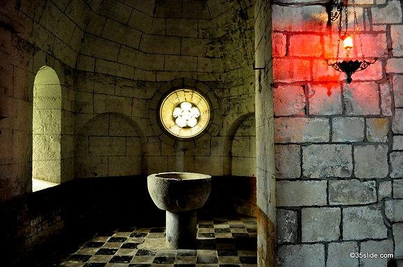 The Baptismal Room, Lacommande, France
