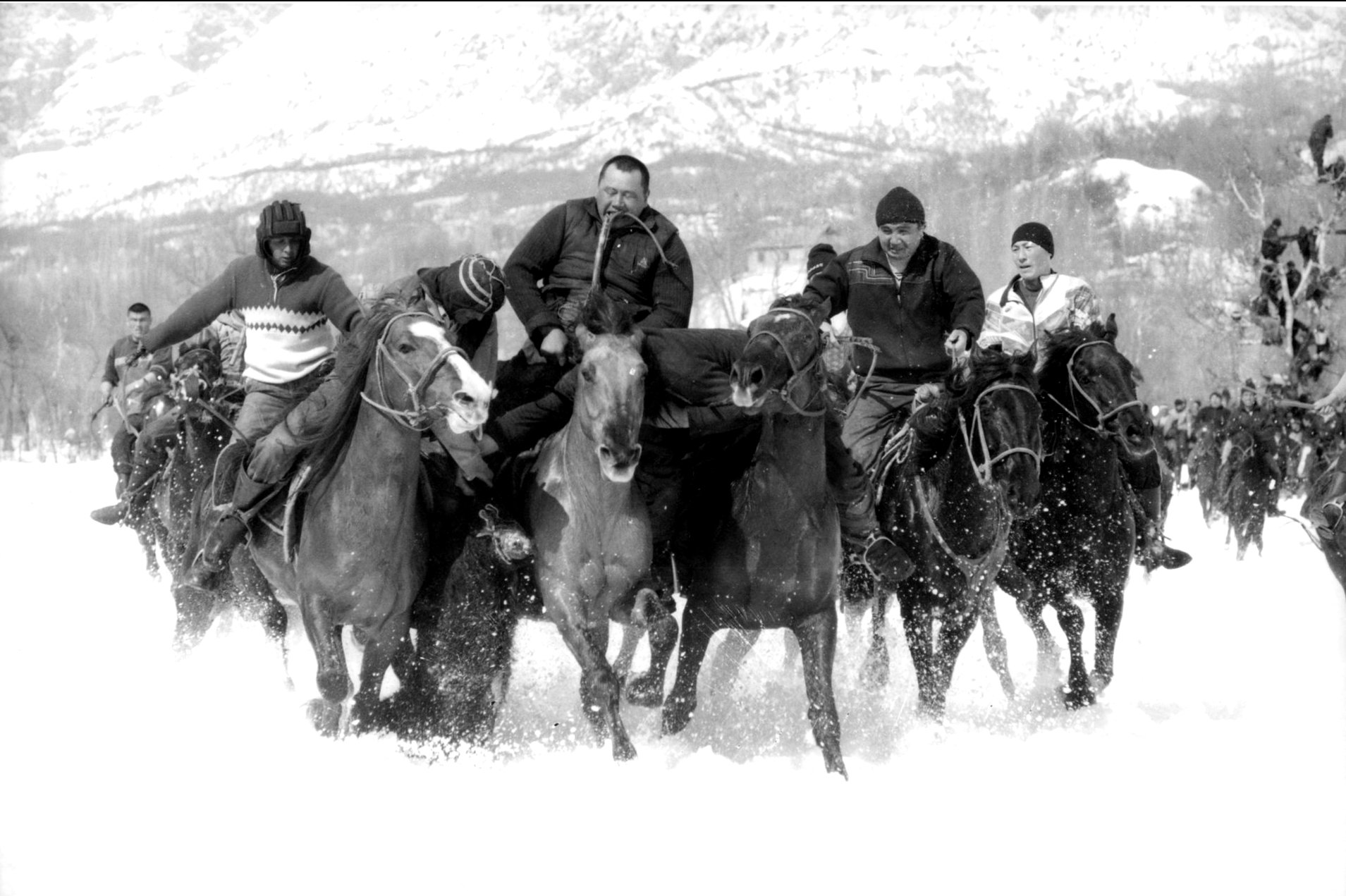 A Winter Game of Kokburu, Kyrgyzstan