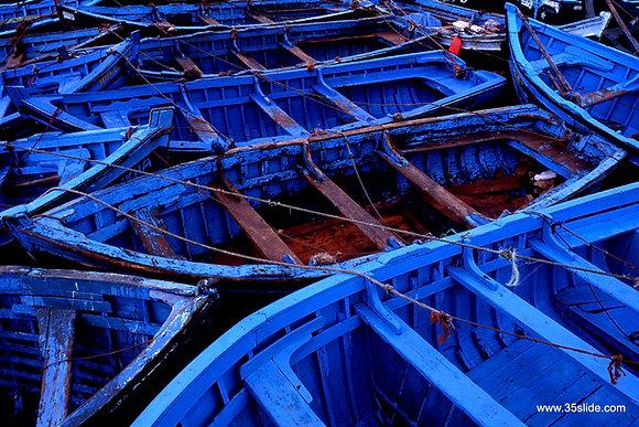 Blue Boats, Morocco