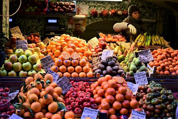 Market Stand, Bologna, Italy