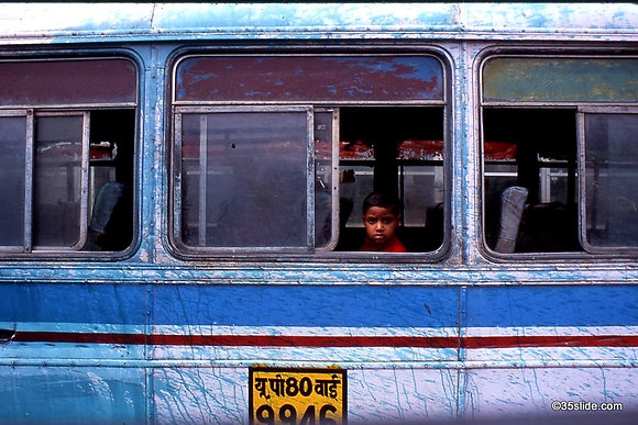 Boy on a Bus, India