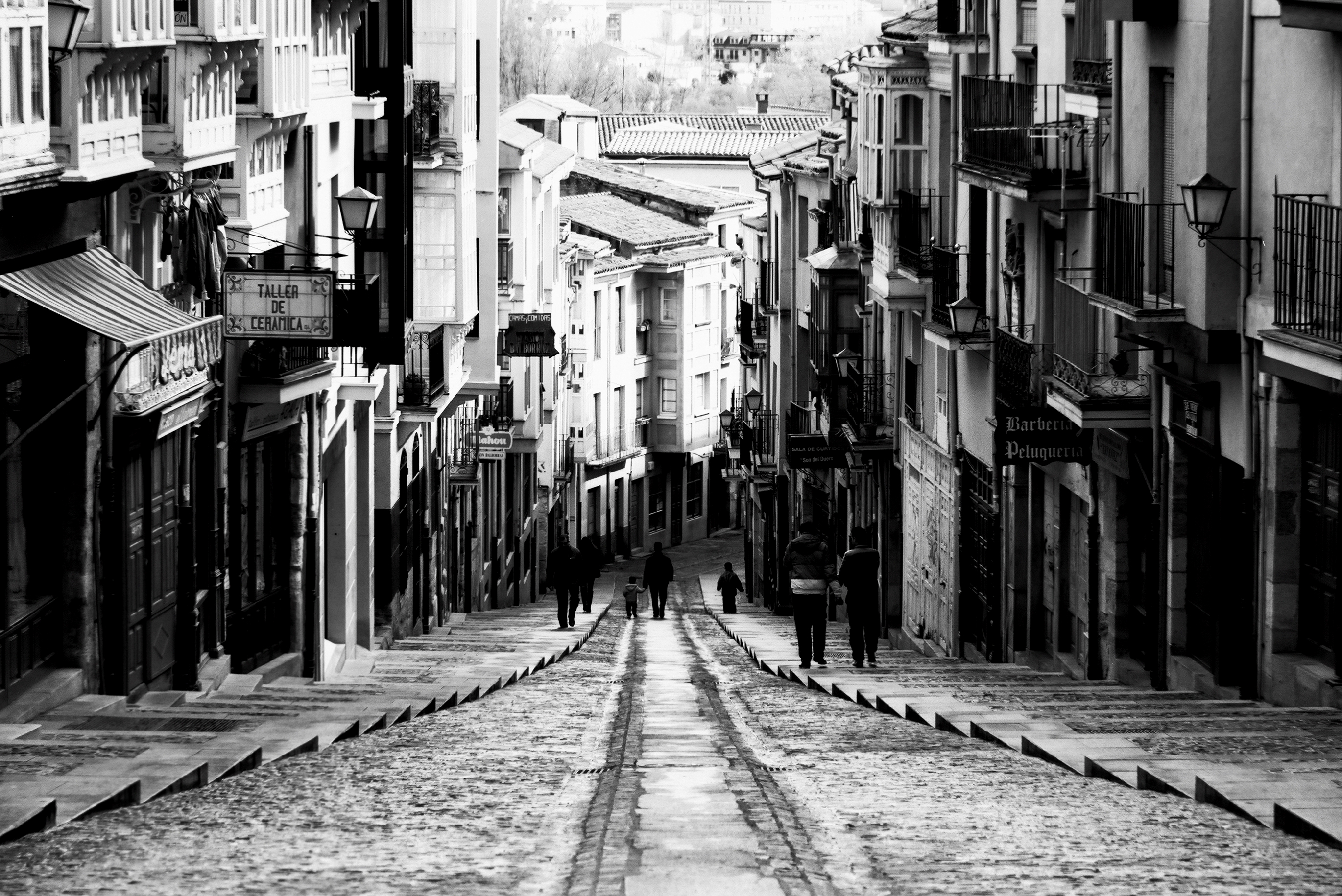 Old Street in Zamora, Spain