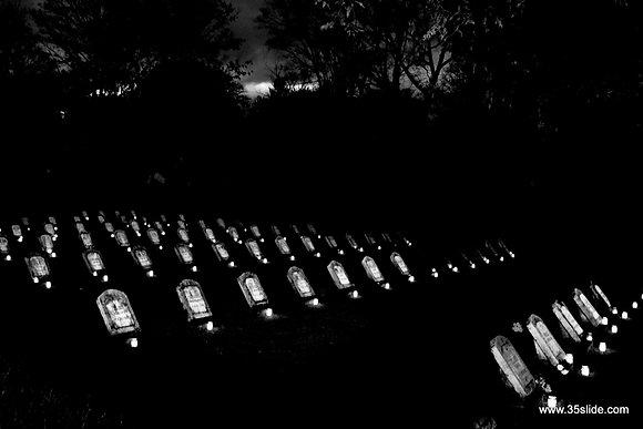 Illuminated Gravestones, Latvia