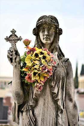 Tomb Guardian with Flowers, Italy