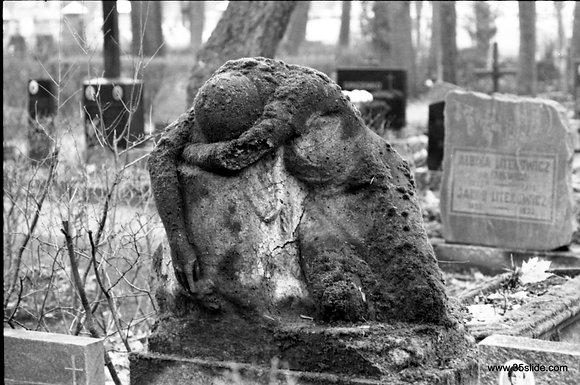 Weathered Gravestone, Latvia