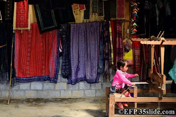 Girl at a Loom, Vietnam