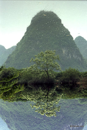 Mirrored Mountain and Tree, China