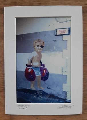 Street Art, Ireland ...5x7 matted size