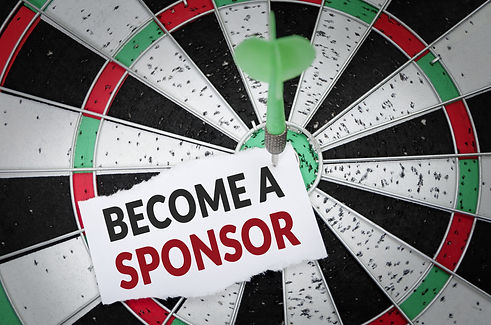 Become a sponsor note on notepaper with